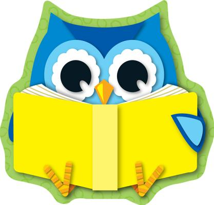 Reading Owl Cut-Outs By Carson-Dellosa Publishing Company, Inc. (COR)